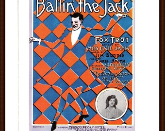 Balling the Jack, music cover from the book Memory Lane