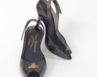 VIVIENNE WESTWOOD Anglomania Melissa Lady Dragon metal flakes shoes - size 38