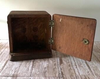 Vintage Phone Box, Vintage Phone Ringer Box, Primitive Telephone Ringer Box, Antique Phone Box, Antique Ringer Box