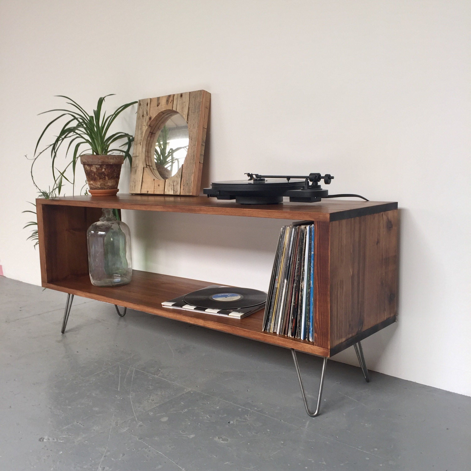Stanton Large Record Player Stand Vinyl Storage Cabinet