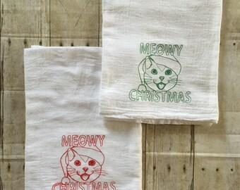 Christmas Flour Sack Towel