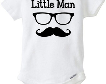 "Little Man onesie for the ""little man"""