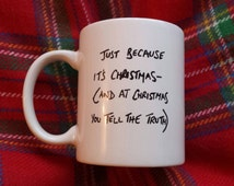 Hand painted mug inspired by Love Actually