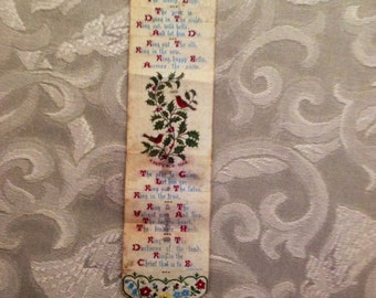 T. Stevens Religious New Year Silk Bookmark 1871