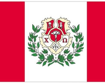 Chi Omega Flag - 3' X 5' Officially Approved