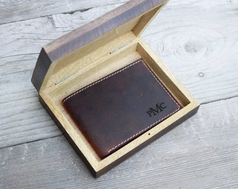 Mens wallet, leather wallet, gift for men, gift for him, boyfriend gift, husband gift, anniversary gift for husband, valentines day, rustic