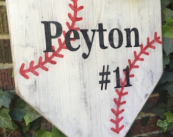 Baseball sign, softball sign, personalized baseball sign, wood baseball sign, home plate, senior keepsake, graduation gifts