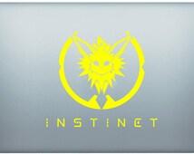 PokemonGo Evee Team Instinct Laptop / Car Decal Sticker Vinyl Art