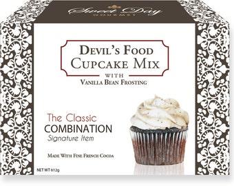 Devil's Food Cupcake Mix w/Vanilla Bean Frosting