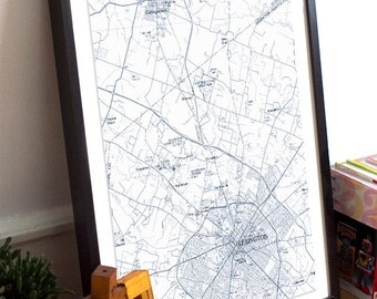 Lexington, KY Map Poster 11x17 18x24
