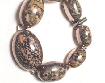 Mexico TA 119 925 sterling sliver with stone/ gem bracelet