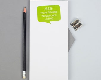 Positive Message Notepad  - Personalized Notepad - Personalized Paper Pad - Custom To Do List - Custom Paper Pad - Back To School