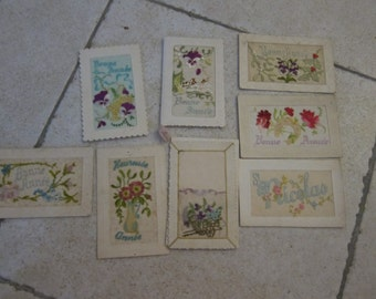 embroidered postal cards 20 years