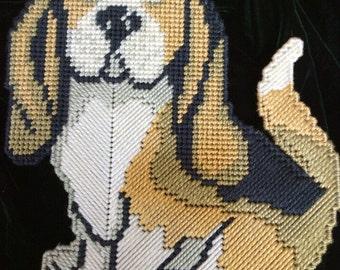 Beagle Dog Plastic Needlepoint Canvas
