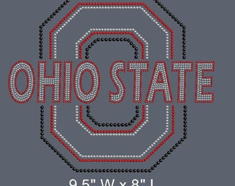 Ohio State Bling/Customize your shirt color, spange colors, shirt size and fit