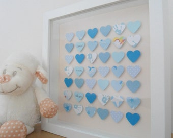 Baby boy detail frame