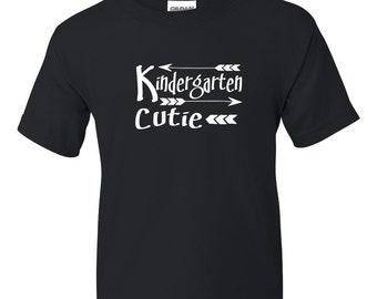 Kindergarten Cutie First Day of Kindergarten Shirt Short Sleeve Tee T-Shirt