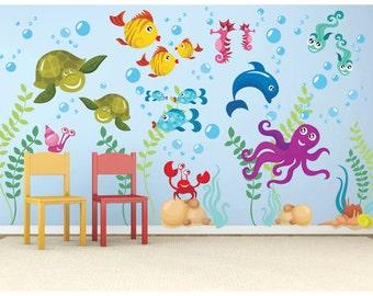 Under The Sea Decal   Vinyl Wall Decal   Ocean Decals   Ocean Wall Decals