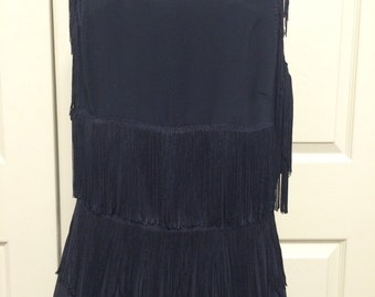 Black Fringe Dress, size 14