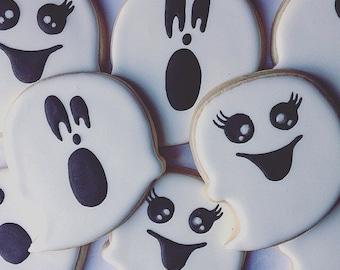 Custom Halloween Ghost Cookies