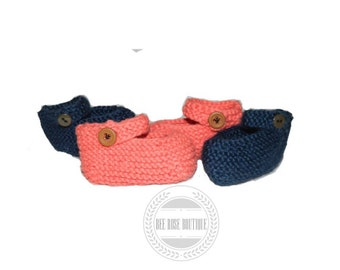 knitted baby mary jane booties ANY COLOR, baby girl booties