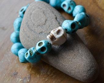 Skulls - Howlite Bracelet