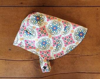 Kaleidoscope Sun Bonnet, Baby Bonnet, Baby Sun Hat, Baby Sun Bonnet, Reversible Bonnet, Modern Bonnet, For Baby and Toddler