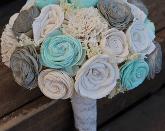 Mint and Gray Bouquet