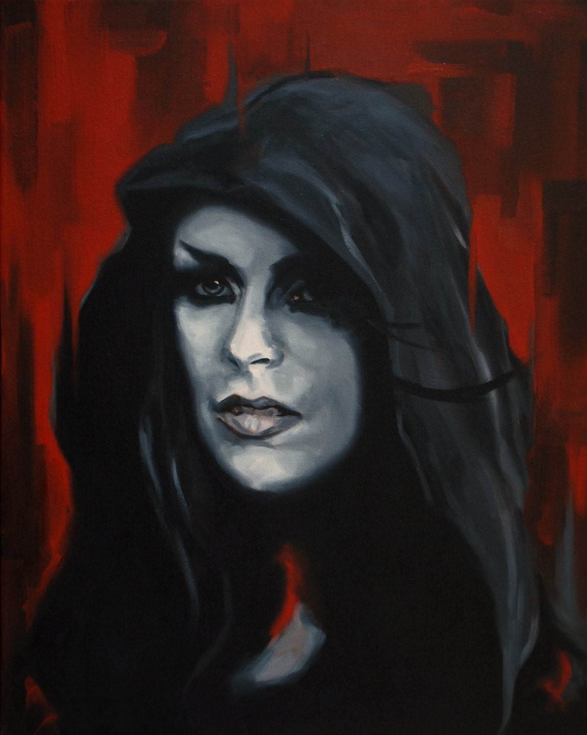 Dark Religious Icon Fine Art Print The Witch Giclee