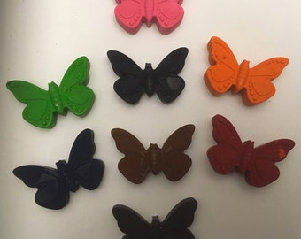 Butterfly Crayons * Set of 3 or 6 * Perfect for Party Favors * Stocking Stuffers * Small Gifts
