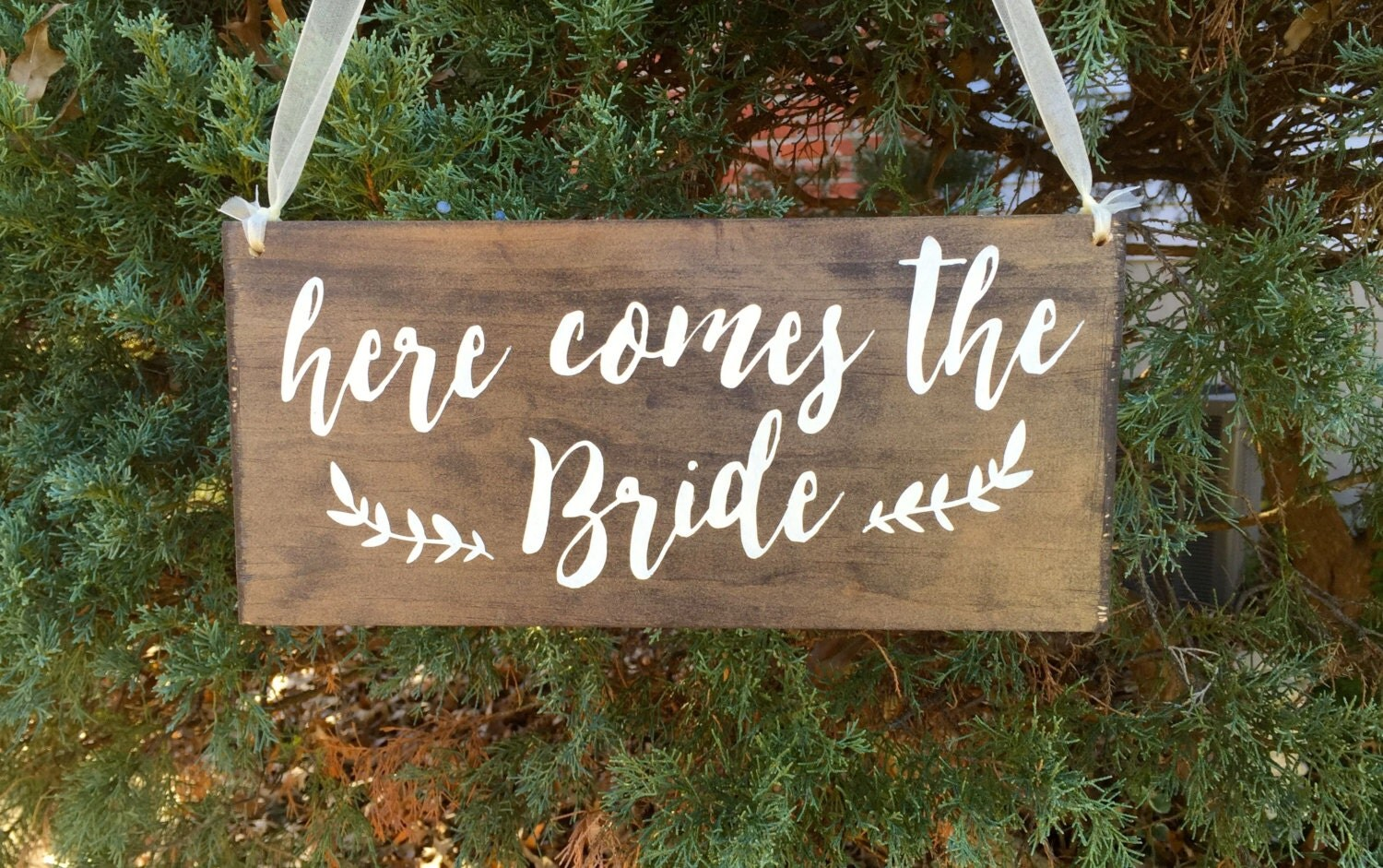 here comes the bride here comes the bride sign wedding. Black Bedroom Furniture Sets. Home Design Ideas