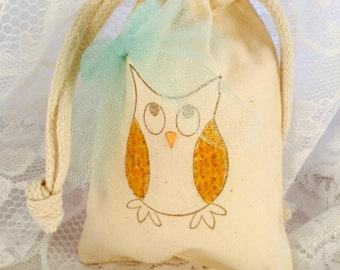 Owl Favor Bag - Owl Birthday Party - Owl Decorations - Hoot Hoot - Owl Candy Bags - Candy Bar - Guest Bag - Customized - Set of 10 - Baby