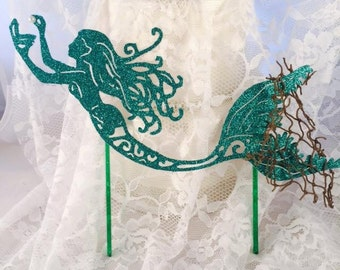 Mermaid Cake Topper - Mermaid Party Decorations - Mermaid Party Decor - Mermaid Birthday Party Cake Topper - Under The Sea Cake Topper
