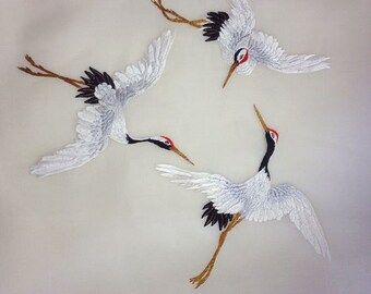 Machine Embroidery Designs Three Cranes – 2 sizes