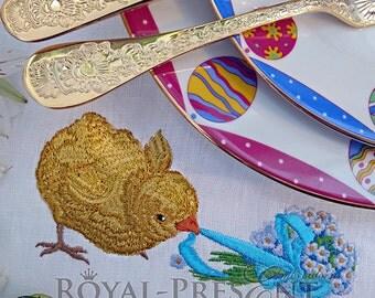 Machine Embroidery Design - Vintage Easter Chicken