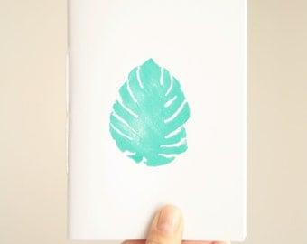 Exotic Notebook * Monstera Plant Journal * Botanical Journal * Travel Notebook  * Botany * Nature * Small Pocket Journal * Minimalist * Gift