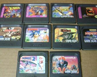 Sega game gear lot of 10 games
