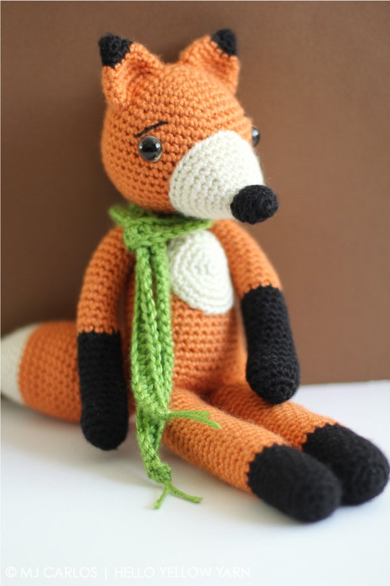 Amigurumi Love Birds Pattern : Cute Fox Amigurumi Crochet PATTERN ONLY, Finn McFox, pdf ...