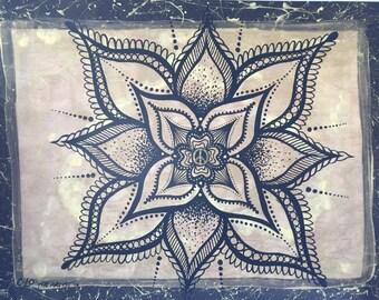 Gold Peace Mandala prints/gold/black/tribal/henna/abstract/mandala