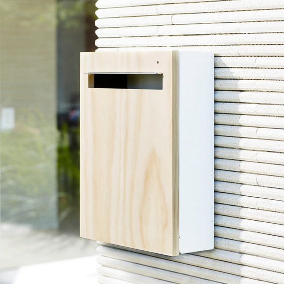 Modern Mailbox Javi Custom Wall Mounted Letterbox White