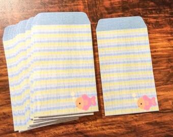 20 Mini Envelopes from Japan - Fish