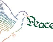 Peace Dove Card Template PDFs - Printable
