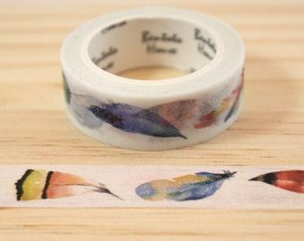 Masking tape feathers, Washi tape, adhesive tape, decorative tape, scrapbooking
