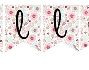 Birthday Girl Custom Made Kokeshi DollName Bunting Banner