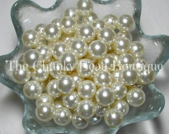 16mm ivory resin pearls