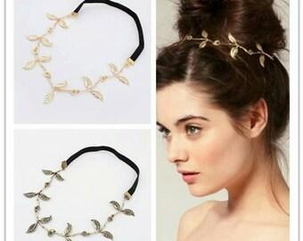 Goddess Leaf Headband in Gold