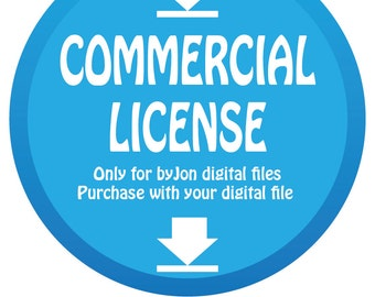 Commercial license for ByJon digital files