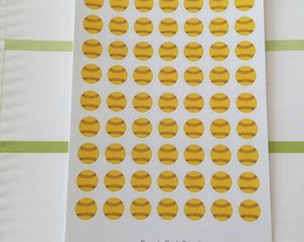 Softball Mini Planner Stickers