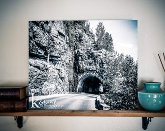Tunnel at Glacier - standout photo print