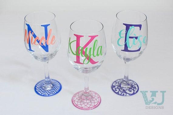 Etsy Custom Wine Glasses